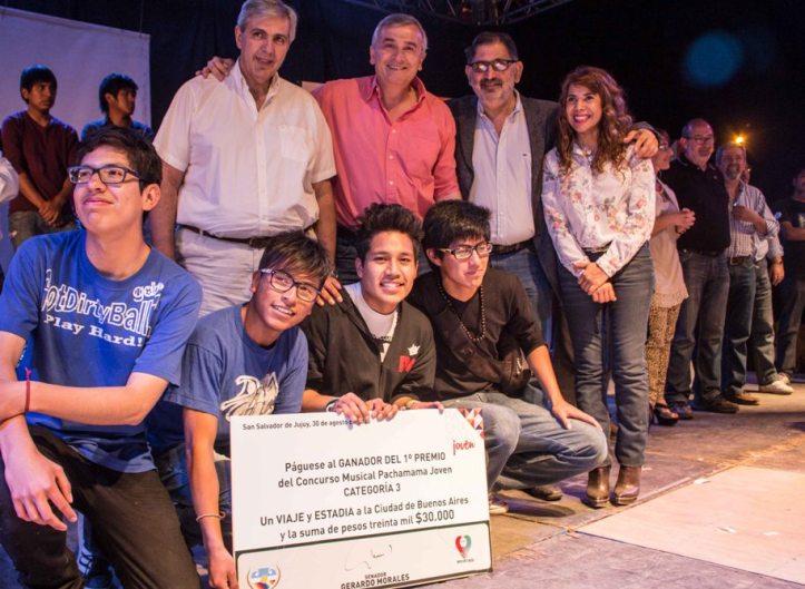 Gerardo, Haquim y Chuli, con los premiados