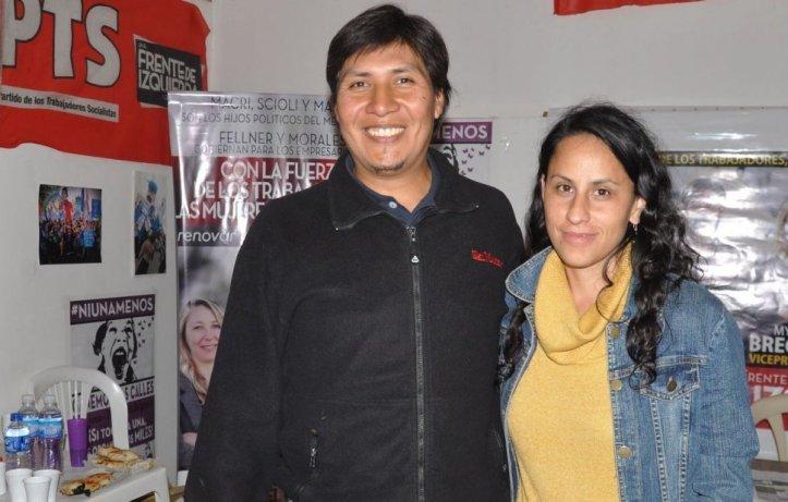 Alejandro Vilca y Natalia Morales