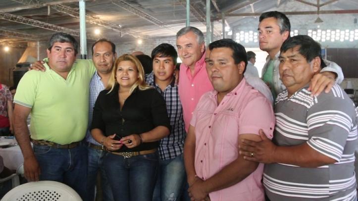 Gerardo con dirigentes de Santa Bárbara