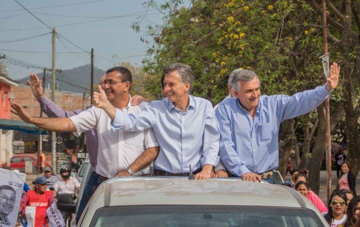 Macri con Gerardo Morales en su última visita a Jujuy