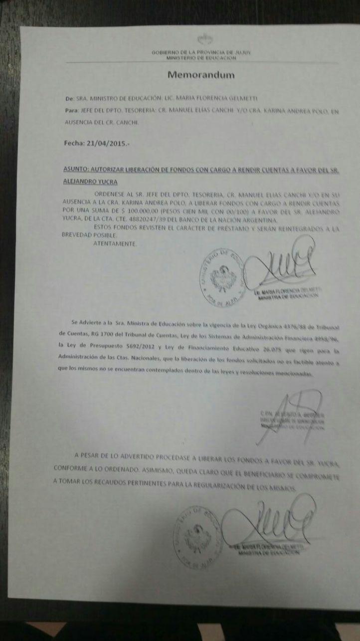 El memorandum