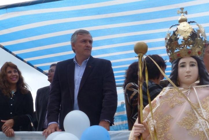 Gerardo Morales en las Fiestas Patronales de El Piquete