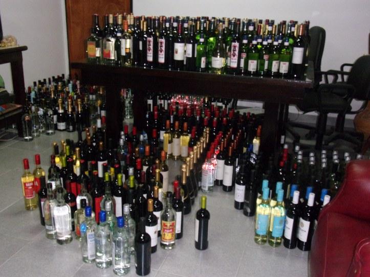 Las botellas -y su contenido- secuestradas