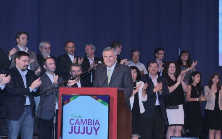 Morales, en el anuncio del plan de gobierno de Cambia Jujuy