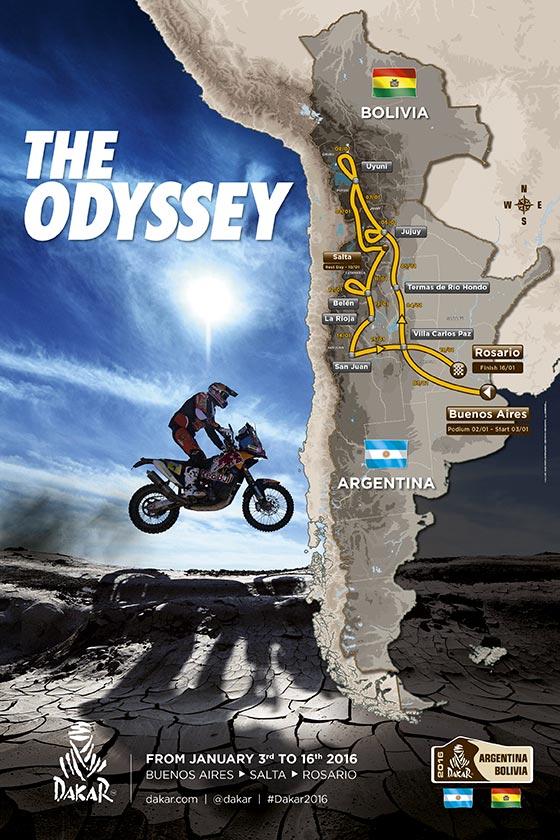 Recorrido del Dakar 2016