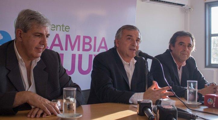 El anuncio de Morales, junto a Haquim y Bernis