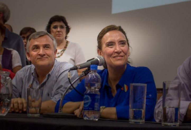 Gerardo Morales con Gabriela Michetti, en Jujuy