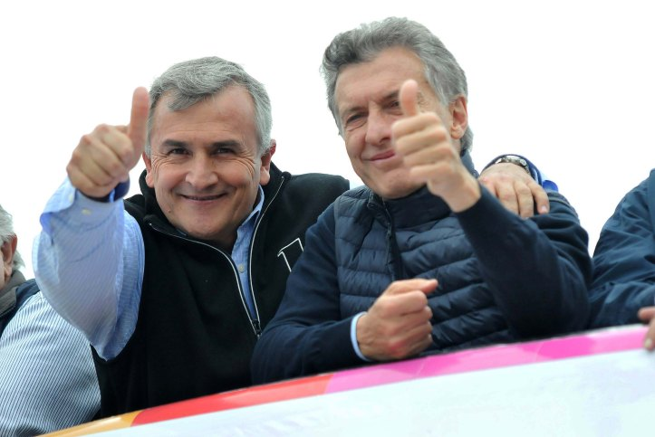 Gerardo con Macri, el viernes pasado, en la mega caravana realizada en San Salvador de Jujuy