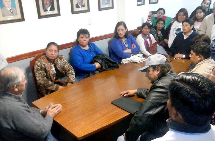 La Intersindical fue recibida por Rodolfo Nieto, autoridad partidaria