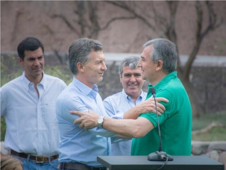 Macri y Morales, en la última visita del Presidente a la provincia.