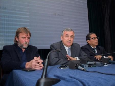 Morales, hoy, al anunciar la creación de la empresa Agua Potable de Jujuy Sociedad del Estado