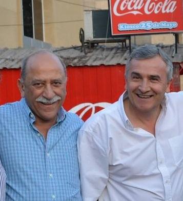 Giubergia y Morales, antes del acto de cierre de campaña en 2015.