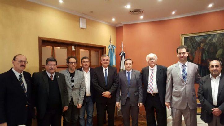 Autoridades de la provincia de Jujuy y de la DAIA