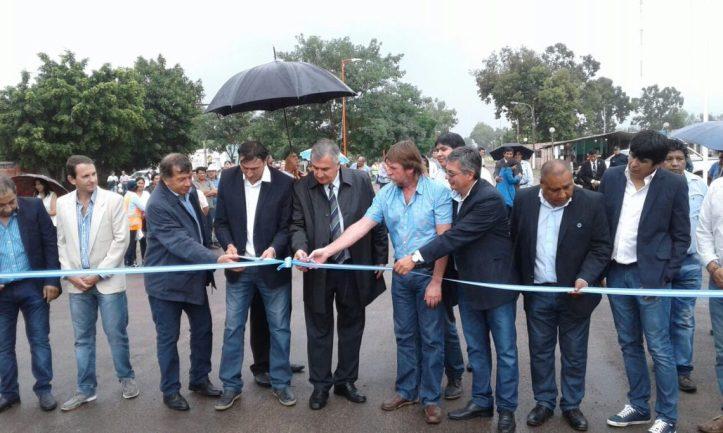 Inauguración del pavimento